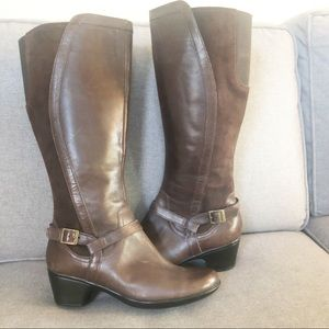 Clark's tall leather and suede boots